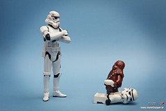 Did you bother my son? (storm TK431) Tags: starwars lego stormtrooper chewie deathstar chewbacca
