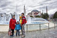 Istanbul | Hagia Sophia | Travel Family (wazari) Tags: city travel art history classic architecture photoshop vintage turkey photography ancient asia europe european place artistic ataturk minaret islam faith religion culture istanbul mosque retro photograph adobe journey dome destination historical ottoman taksim middleages hagiasophia secular turkish byzantine bosphorus masjid asean cultural turk sultanahmet traveler galata constantinople islamicart ayasofya travelphotography galatatower stamboul travelphotographer wazari senibina wazariwazir