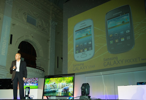 "Samsung at Cape Town City Hall - new ""Built for Africa"" phones"