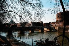 Castel Sant'Angelo (.lory.) Tags: city bridge blue italy rome roma castle architecture river boat barca shadows blu fiume barche ponte cielo lungotevere angelo albero acqua azzurro castello lazio