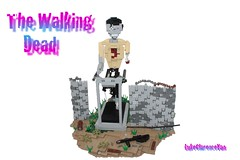 'Milling About, Zombie Style (LukeClarenceVan) Tags: wall walking dead lego zombie rifle hard style curvy round about plasma fortification base treadmill milling the 2013 macroscale mocathalon lukeclarencevan