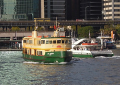 Lady Herron, Supercat 4, and the Manly Fast Ferry at Circular Quay (john cowper) Tags: sydney newsouthwales ferries circular sydneyharbour supercat sydneycove cahillexpressway sydneyferries ladyherron manlyfastferry