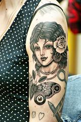 Mondial du tatouage (dprezat) Tags: portrait people paris portraits stencil convention salon tatoos bodyart 104 encre tribu tatouages 2013 sonyalpha700 centquatre mondialdutatouage