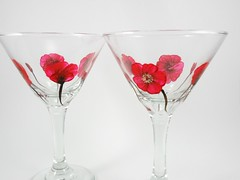 Martini Glasses Hand Painted Poppies Set of 2 (Painting by Elaine) Tags: red glass glasses painted martini handpainted poppy poppies redhatsociety glassware stemware paintedglass martiniglasses redpoppies paintedpoppies handpaintedmartiniglasses paintingbyelaine martiniglassespainted martiniglasshandpainted handpaintedpoppies