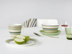 Origo and Teema in New Green (Dinner Series) Tags: green design finnish iittala dinnerware glassware origo teema didriks