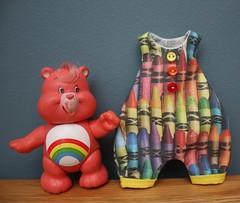 (morganannie) Tags: rainbow fabric blythe crayons crayon carebear romper morganannie morgananniemadeit