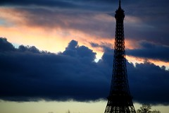 Eiffel Tower and Sky