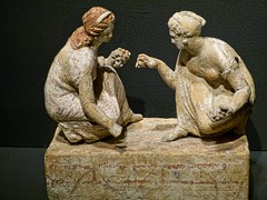 Two young women playing knucklebones Greek 330-300 BCE said to be from Capua, Italy (mharrsch) Tags: italy sculpture woman game statue female oregon portland greek ancient 4thcenturybce britishmuseum capua portlandartmuseum bodybeautiful knucklebones mharrsch