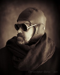 Chef d'Equipe ~ Aether Engineering (Christopher Mark Perez) Tags: paris france goth goggles engineering steampunk timetraveler canon5dmkii nikon50mmf14ai noirvictoriangothic
