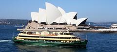 TWO ICONS OF SYDNEY (FlashFlyGuy) Tags: ferry harbour sydney australia circularquay nsw newsouthwales operahouse ferries sydneyharbour sydneyoperahouse