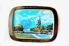 Vintage New York World's Fair Metal Tray (KelliOliver) Tags: newyork vintage worldsfair 1964 1965 metaltray