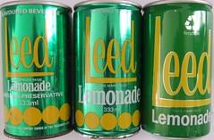 Leed Lemonade Soft Drink Cans - New Zealand (NZCollector) Tags: new lemon soft cola drink coke zealand lp packaging pepsi soda cans coca fanta kiwiana paeroa