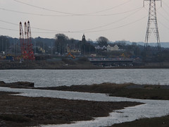 New Loughor railway bridge 1st April 2013 (4) (Gareth Lovering) Tags: bridge water swansea wales night river landscape group railway trains olympus llanelli user omd lovering networkrail loughor em5 oowug