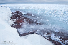 Icy boulder shoreline (Mike Lentz Photography) Tags: snow ice water northshore schroeder duluth lakesuperior hovland grandportage stoneypoint tofte grandmarias hollowrock scenichwy61 littlemarais minnesotasnorthshore