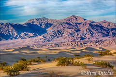Mesquite Dunes And Mountains (Mimi Ditchie) Tags: mountains sand bravo patterns dunes mesquite getty deathvalley sanddunes gettyimages bigfav mesquitedunes mimiditchie mimiditchiephotography