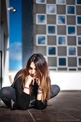 Irene (Giulia Catania) Tags: sky girl portraits model tetto blu cielo irene ritratto ragazza mondo modella