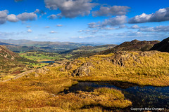 Little Langdale from Wrynose (MikeChet) Tags: england fall landscape unitedkingdom wildlife lakedistrict places flowersplants wrynosepass littlelangdale littlelangdaletarn littlelangdalevalley