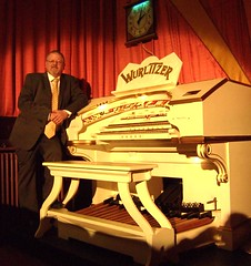 The Royalty Cinema's resident organist Paul Gregson, at the Wurlitzer organ of the Furness Theatre Organ Project. (Paul Gregson) Tags: cinema organ cumbria organs wurlitzer bowness bownessonwindermere organist organconsole wurlitzerorgan cinemaorgan royaltycinema paulgregson furnesstheatreorganproject