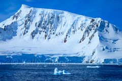 Antarctica-111123-638 (Kelly Cheng) Tags: travel blue sea white mountain color colour tourism nature water sunshine horizontal landscape daylight colorful day ship outdoor transport vivid sunny antarctica nobody nopeople colourful copyspace seacape traveldestinations antarcticpeninsula