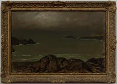 COTTET Charles 1904 Brume  Belle-le (PoissArt) Tags: marine cte vague rocher brume belleile brestmusedesbeauxarts peinturebretonne cottetcharles