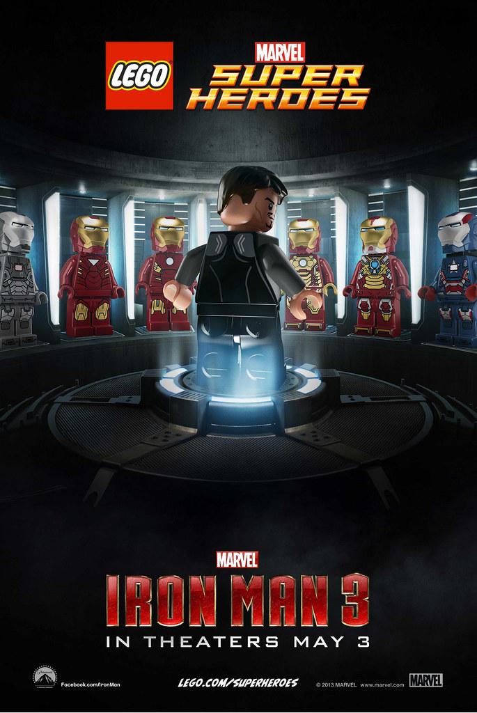 LEGO 發表兩款【鋼鐵人3】電影海報