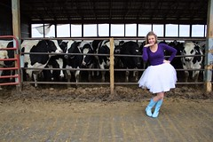 Rural Beauty (SaKaMa34) Tags: portrait cows stereotypes girlygirl centralmichiganuniversity
