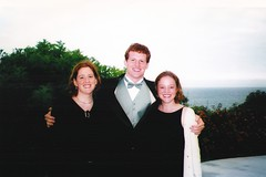 Amy, Mike and Kath (Area Bridges) Tags: california wedding mike la 2000 amy katherine malibu kath