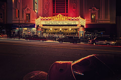 Castro Theatre San Francisco (colour version) (AllardSchager.com) Tags: sanfrancisco california street longexposure nightphotography usa cinema motion classic cars architecture america vintage reflections spring nikon theater neon nightshot theatre unitedstatesofamerica streetphotography landmark le neonlights april movies classical 1922 amerika lente timeless movietheater californie streetshot gevel castrodistrict castrotheatre castrostreet tiltshift 2013 d700 nikond700 misscocoperu nikonfx allardone allard1 djangounchained allardschagercom nikkor24mmf35pcetiltshift sanfranciscohistoriclandmark spanishcolonialbaroquefacade supercrosspop