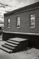 Once a Door (frntprchprss) Tags: blackandwhite massachusetts steps brickwall springfield nodoo jamesgehrt