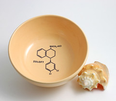 Zoloft Molecule Bowl in Peach (lltownley) Tags: art psychiatry ceramics brain science doctor chemistry drugs pottery medicine etsy zoloft molecule psychiatrist psychologist