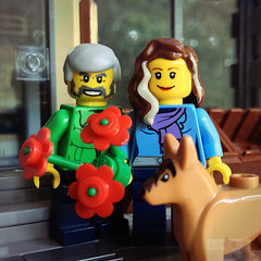 LegoGenre: A Very Happy Valentines Day! (Readblood (LegoGenre)) Tags: flowers dog holiday flower love toys lego valentine romance legos minifig valentinesday minifigure legoman loveday legogenre