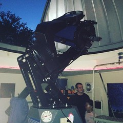 """This is a 16"""" Meade LX-200 ACF Computerized Telescope inside Golden Pond Observatory at Land Between the Lakes (danmann3600) Tags: space observatory telescope jupiter outerspace stargazing spaceexploration"""