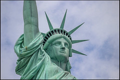 Statue of Liberty (mattpacker1978) Tags: liberty statue new york nyc ny usa france freedom sky blue clouds copper