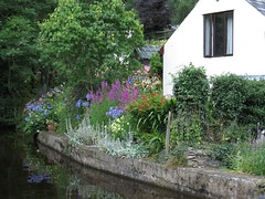 3034 Canal side cottage garden (Andy panomaniacanonymous) Tags: 20160804 canal ccc cottagegarden ggg llangollen