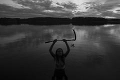 Ritual study (Jani Kuusonen) Tags: ritual study blackandwhite bw scythe nature landscape occult occultism darkarts sunset