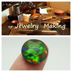 COMING SOON (The Ammolite) Tags: minerals fossil  stone ammolite ammonite triple gemstone jewelry jewellery