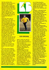 Norwich City vs Arsenal - 1981 - Page 3 (The Sky Strikers) Tags: norwich city arsenal football league division one carrow road official match day magazine 30p