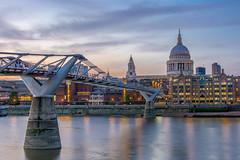 Millennium Bridge with St. Paul's Cathedral (giualia) Tags: london ngc england bridge ponte st paul millennium nikonflickraward