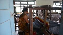 Put Your Back Into It (www.WeAreHum.org) Tags: textile nepal thread bobbins gandhi tulsi ashram school for women kathmandu sowing weaving winds threads mechanical loom wood shuttles feet arts