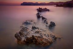 [287] Paguera (waterman75) Tags: natur peguera paguera mallorca spanien mittelmeer strand sonnenuntergang wasser water spain sea urlaub baden ufer fels stein