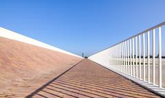 Bridge horizon (twan-k5) Tags: 2016 nevengeul lent disappearing point view sky nijmegen rivierenpark perspective vanishingpoint