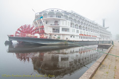 American Queen in the fog (visitexplorelacrosse) Tags: nina pinta columbus ship sail lacrosse wisconsin explorelacrosse americanqueen historical arts culture