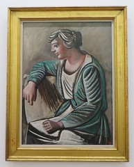"""Femme au peignoir vert"", 1922, Pablo Picasso (1881-1973), Muse Ludwig, Cologne, Rhnanie du Nord-Westphalie, Allemagne. (byb64) Tags: museludwig peterludwig museumludwig cologne kln colonia rhnaniedunordwestphalie nordrheinwestfalen northrhinewestphalia renaniadelnortewestfalia renaniasettentrionalevestfalia rhnanie rhineland rheinland renania ville allemagne deutschland germany germania alemania europe europa eu ue rfa nrw stadt ciudad town citta city muse museum museo artmoderne xxe 20th artcontemporain kubismus cubisme cubisn cubismo picasso pablopicasso portait retrato femme woman femmeaupeignoirvert"