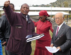 Yukiya Amano visits site to new cancer centre in Maseru (01811092) (IAEA Imagebank) Tags: lesotho cancercentre maseru