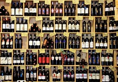 There is no drinking,after you're dead... (modestino68) Tags: bottiglie bottles vino wine muro wall paulweller