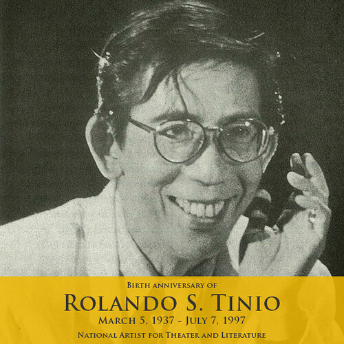 rolando santos tinio Rolando tinio rolando santos tinio (march 5, 1937 - july 7, 1997) was a filipino poet, dramatist, director, actor, critic, essayist and educator[1][2][3][4] biography rolando tinio is a philippine.
