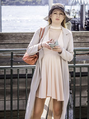 Springtime stunner !! (star79322) Tags: sydney steveroebuckphotography scene street city circularquay stunning girl fashion portrait pose phone 2016