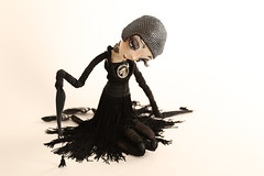 Noir (fantoche art dolls) Tags: fantoche oana micu art dolls papusi objects theatrical costumes doll stand scenography magical nostalgia