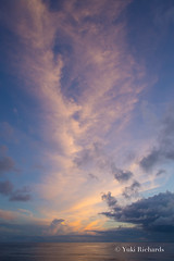 Sunset Cloud in the Pacific (yukirichards) Tags: sunset clouds ogasawara tokyo japan ocean sea pinkclouds boattrip ship nikon d610