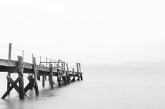 kinnegar (timgaston) Tags: belfast outdoor jetty pier holywood sea seashore water blackandwhite